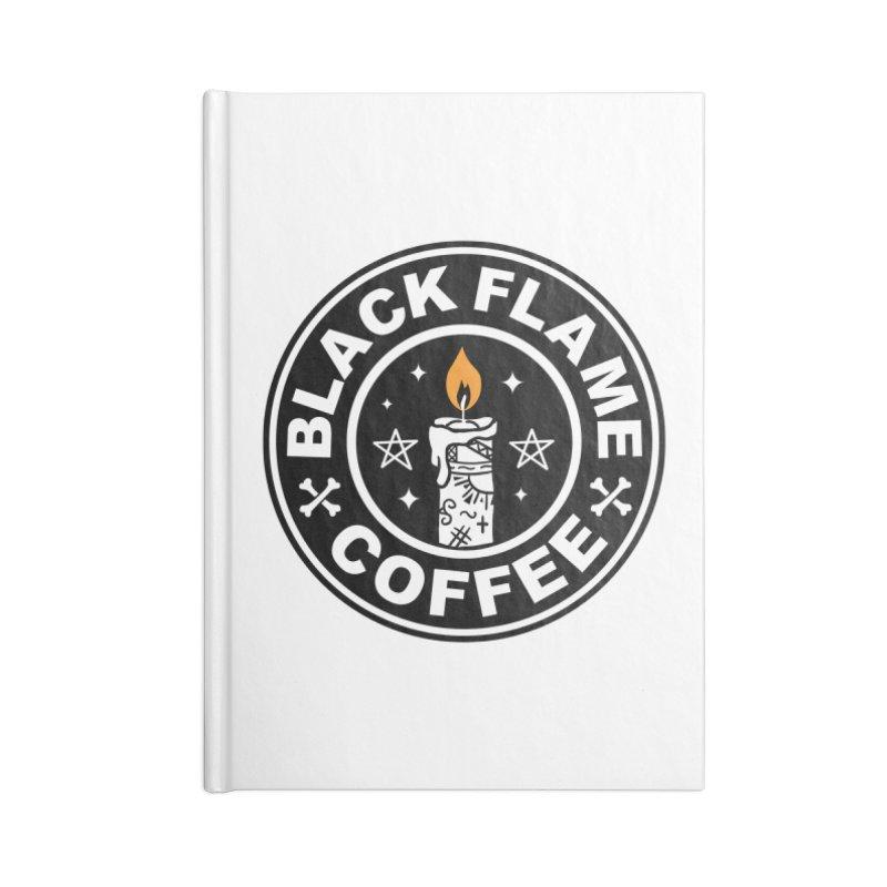 Black Flame Coffee Accessories Notebook by vincenttrinidad's Artist Shop
