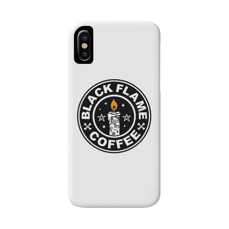 Black Flame Coffee Accessories Phone Case by vincenttrinidad's Artist Shop