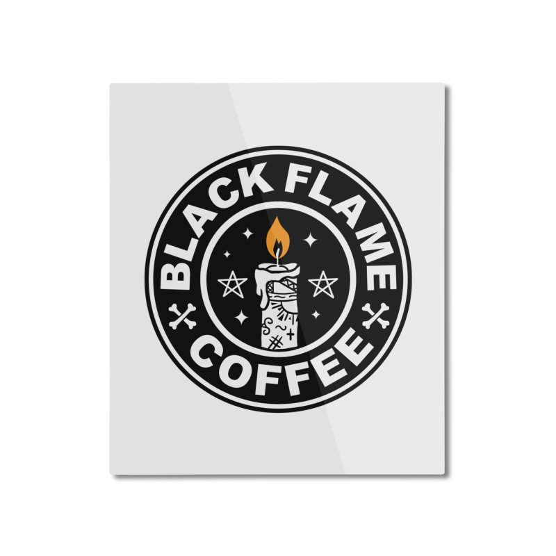 Black Flame Coffee Home Mounted Aluminum Print by vincenttrinidad's Artist Shop