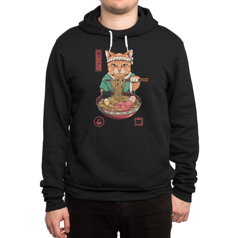 Neko Ramen Men's Pullover Hoody by Vincent Trinidad Art
