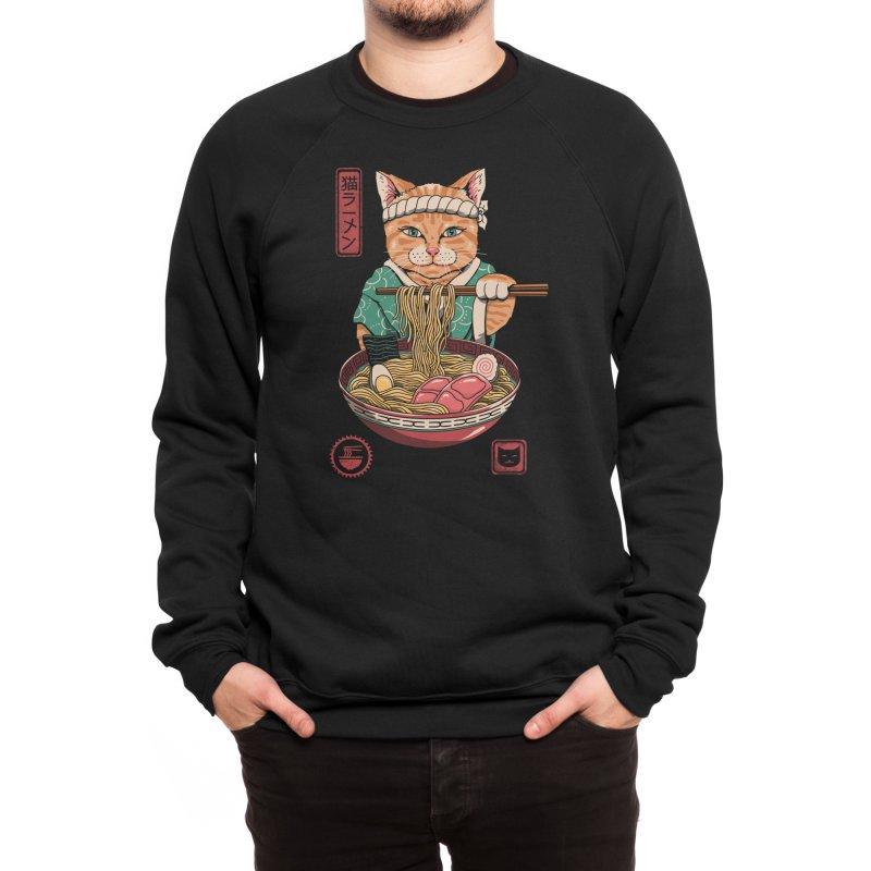 Neko Ramen Men's Sweatshirt by Vincent Trinidad Art