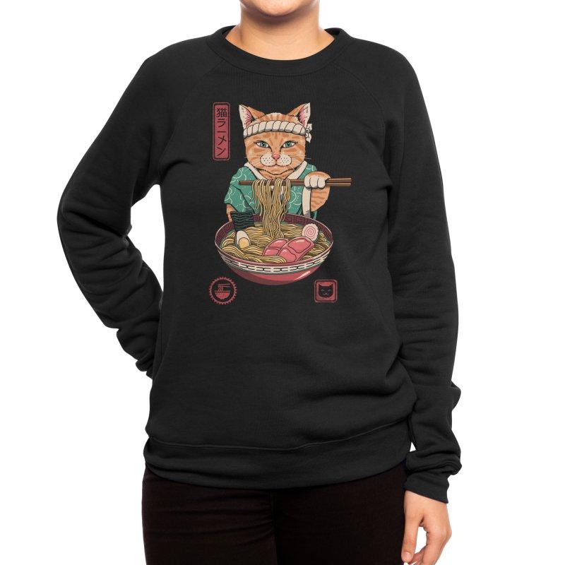 Neko Ramen Women's Sweatshirt by Vincent Trinidad Art