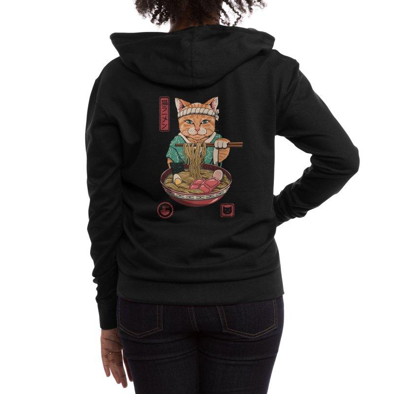 Neko Ramen Women's Zip-Up Hoody by Vincent Trinidad Art