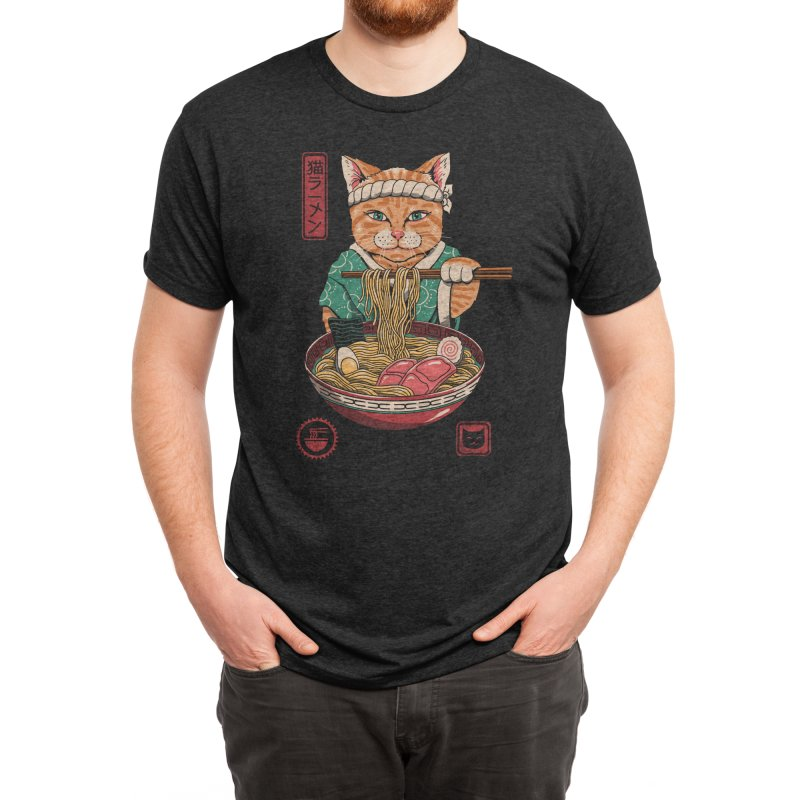 Neko Ramen Men's T-Shirt by Vincent Trinidad Art