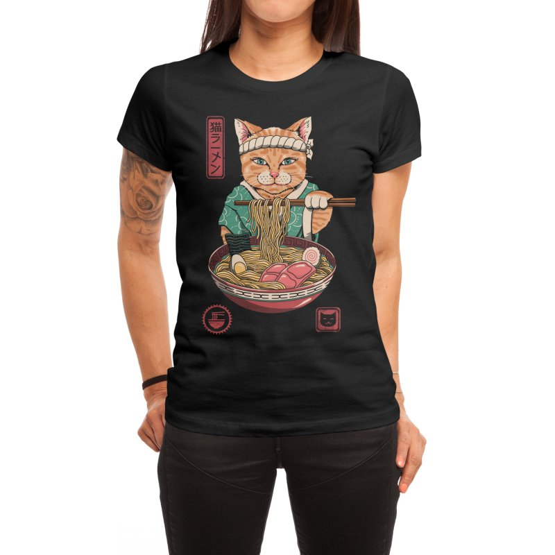 Neko Ramen Women's T-Shirt by Vincent Trinidad Art