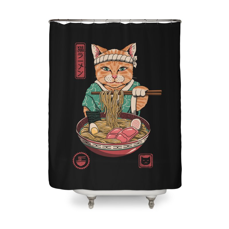 Neko Ramen Home Shower Curtain by vincenttrinidad's Artist Shop