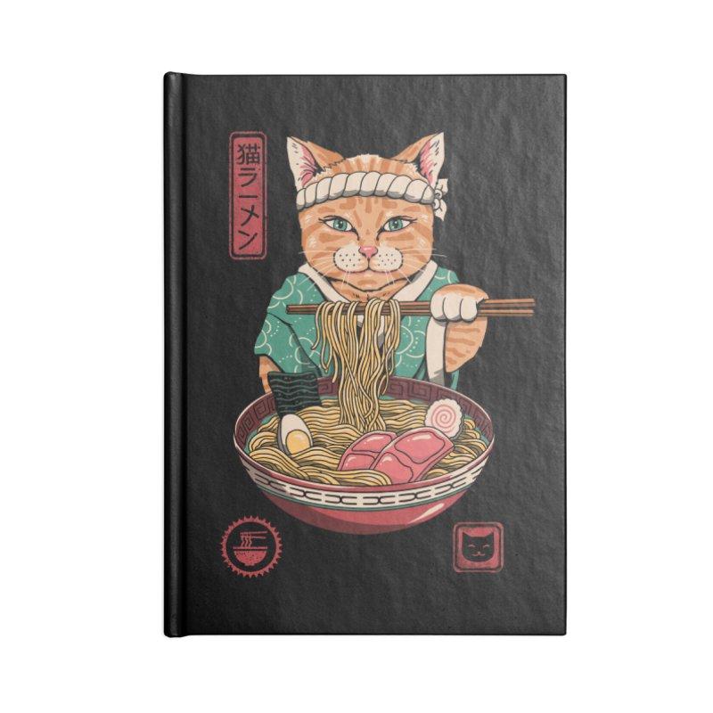 Neko Ramen Accessories Notebook by vincenttrinidad's Artist Shop