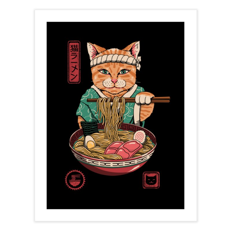 Neko Ramen Home Fine Art Print by Vincent Trinidad Art