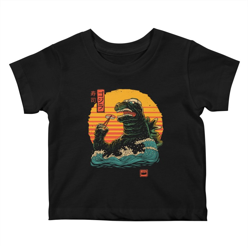King of Sushi Kids Baby T-Shirt by vincenttrinidad's Artist Shop