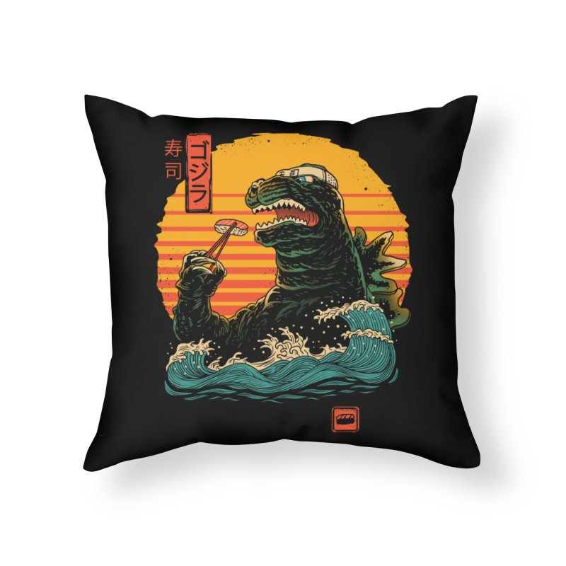 King of Sushi Home Throw Pillow by vincenttrinidad's Artist Shop