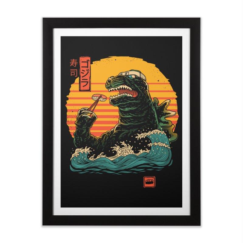 King of Sushi Home Framed Fine Art Print by vincenttrinidad's Artist Shop