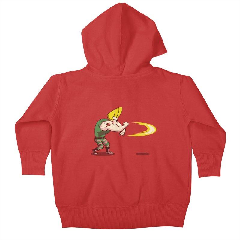 Sonic Bravo! Kids Baby Zip-Up Hoody by vincenttrinidad's Artist Shop