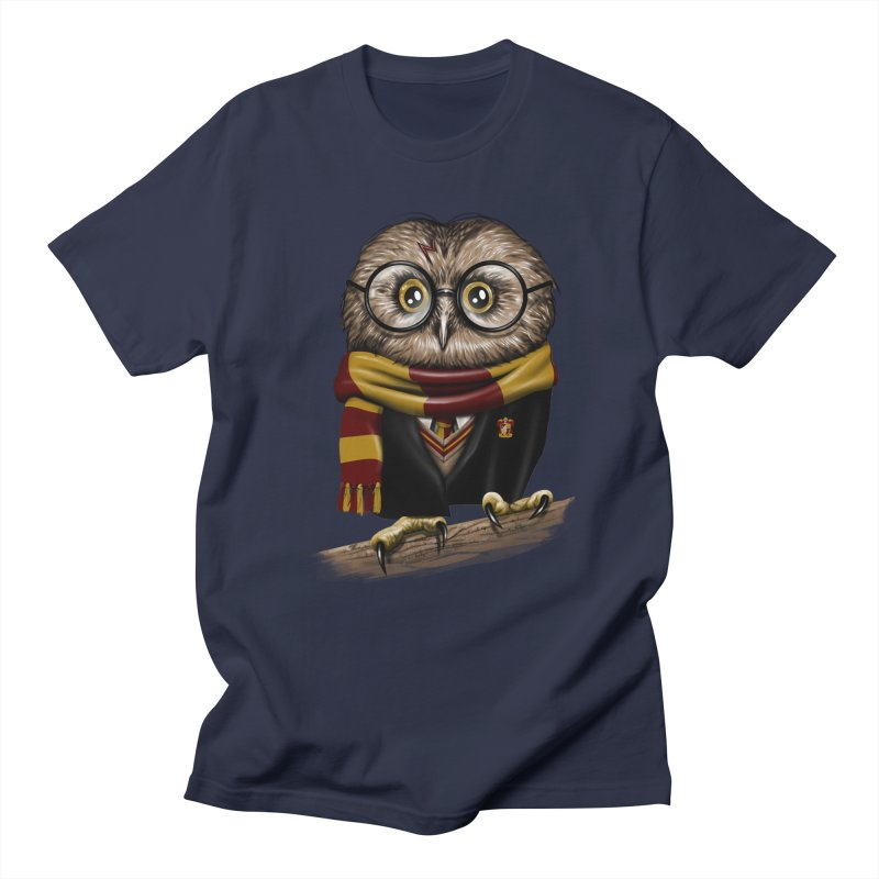 Owly Potter in Men's T-shirt Navy by vincenttrinidad's Artist Shop