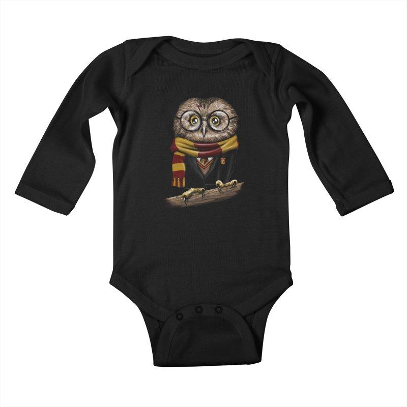 Owly Potter Kids Baby Longsleeve Bodysuit by vincenttrinidad's Artist Shop