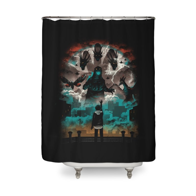 Strange Titans Home Shower Curtain by vincenttrinidad's Artist Shop