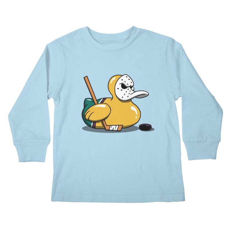Mighty Rubber Ducky Kids Longsleeve T-Shirt by vincenttrinidad's Artist Shop