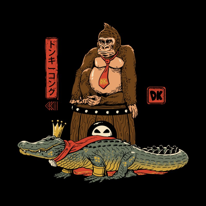 The Crocodile and the Gorilla by vincenttrinidad's Artist Shop