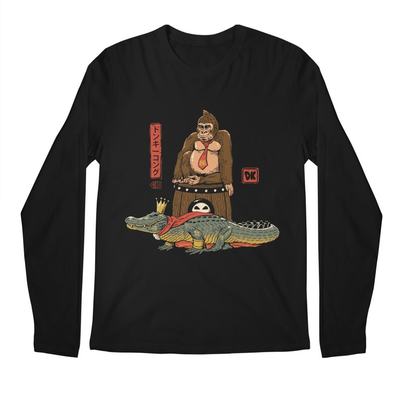 The Crocodile and the Gorilla Men's Regular Longsleeve T-Shirt by vincenttrinidad's Artist Shop