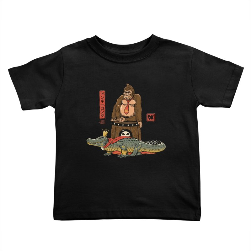 The Crocodile and the Gorilla Kids Toddler T-Shirt by vincenttrinidad's Artist Shop