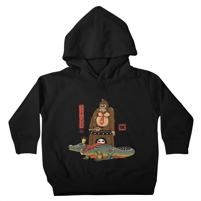 The Crocodile and the Gorilla Kids Toddler Pullover Hoody by vincenttrinidad's Artist Shop