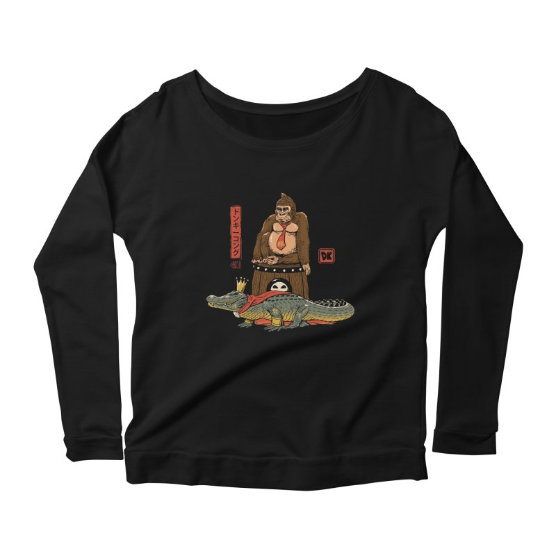 The Crocodile and the Gorilla Women's Scoop Neck Longsleeve T-Shirt by vincenttrinidad's Artist Shop
