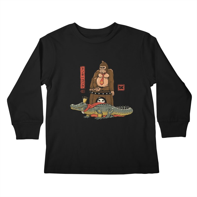 The Crocodile and the Gorilla Kids Longsleeve T-Shirt by vincenttrinidad's Artist Shop