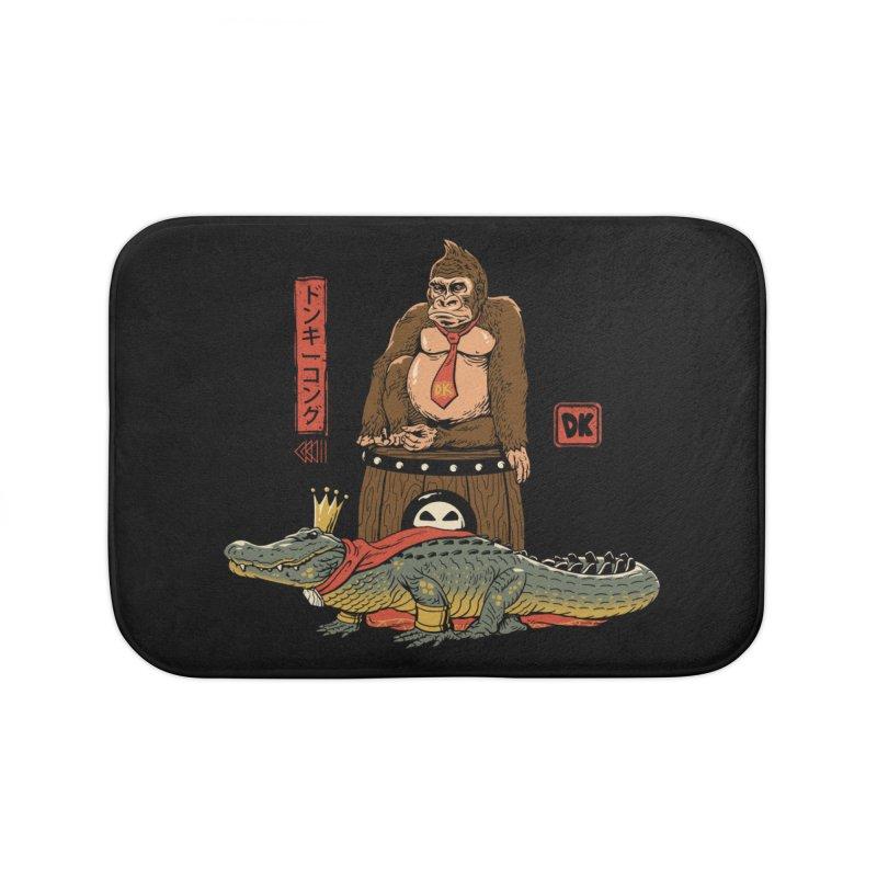 The Crocodile and the Gorilla Home Bath Mat by vincenttrinidad's Artist Shop