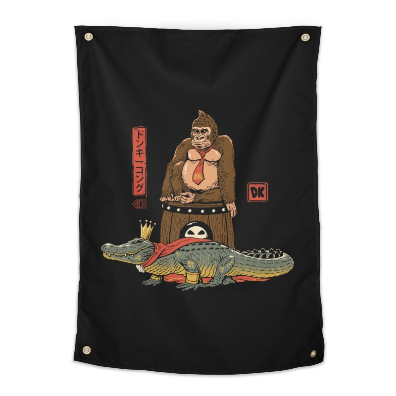 The Crocodile and the Gorilla Home Tapestry by vincenttrinidad's Artist Shop