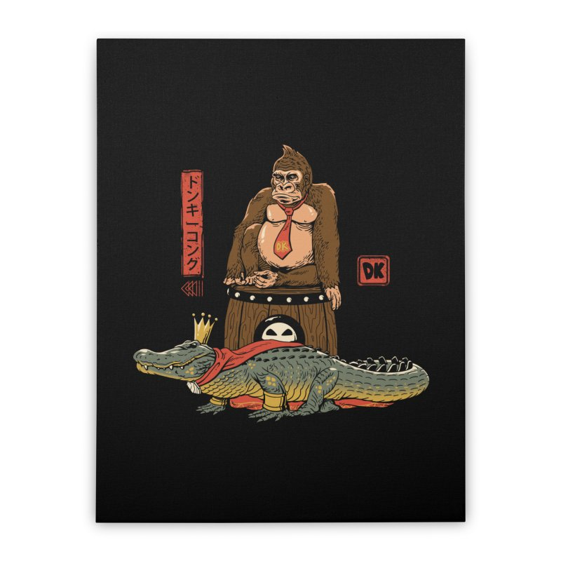 The Crocodile and the Gorilla Home Stretched Canvas by vincenttrinidad's Artist Shop
