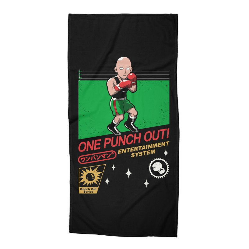 One Punch Out! Accessories Beach Towel by vincenttrinidad's Artist Shop