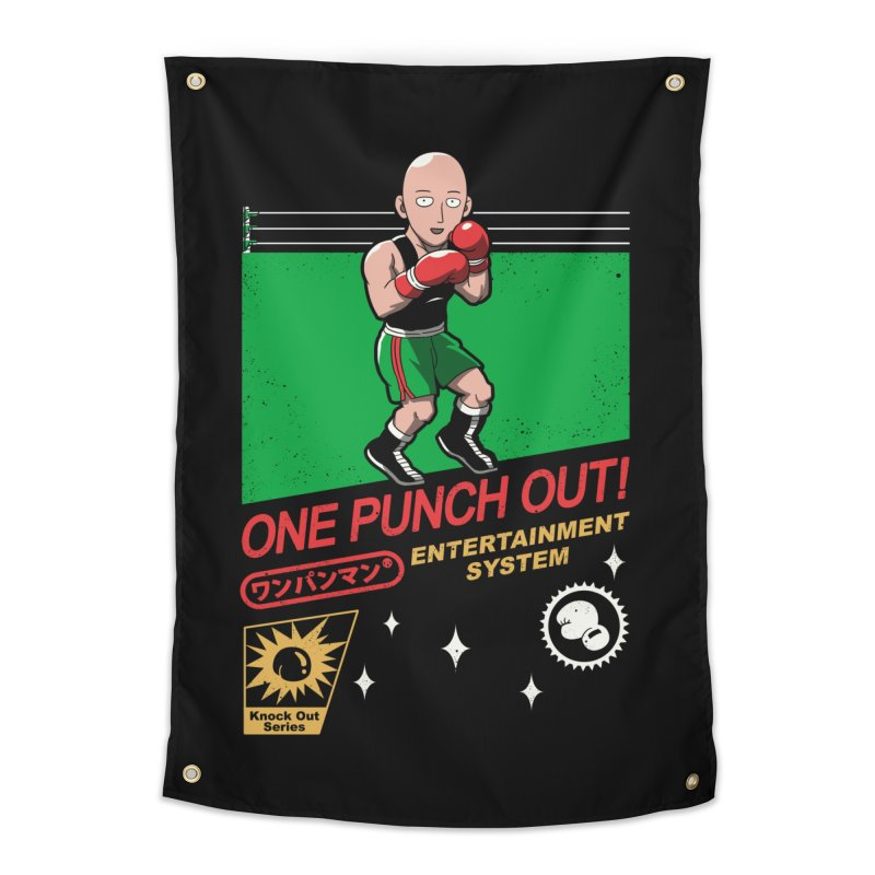 One Punch Out! Home Tapestry by vincenttrinidad's Artist Shop