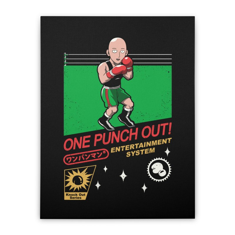 One Punch Out! Home Stretched Canvas by vincenttrinidad's Artist Shop