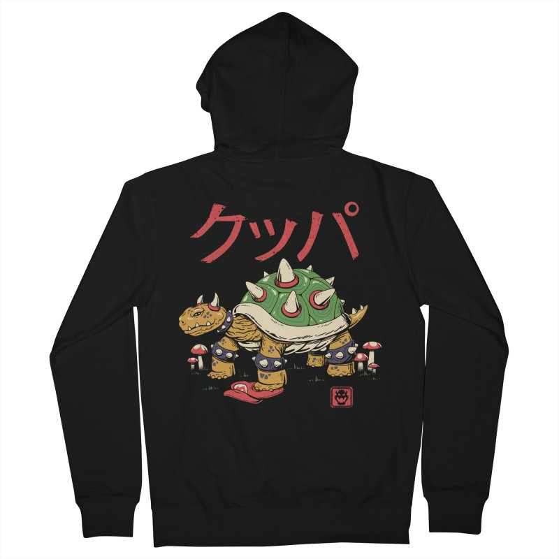 Turtle Demon King Men's French Terry Zip-Up Hoody by vincenttrinidad's Artist Shop