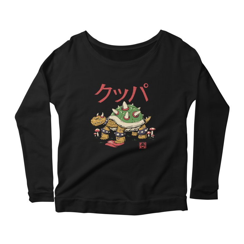 Turtle Demon King Women's Scoop Neck Longsleeve T-Shirt by vincenttrinidad's Artist Shop