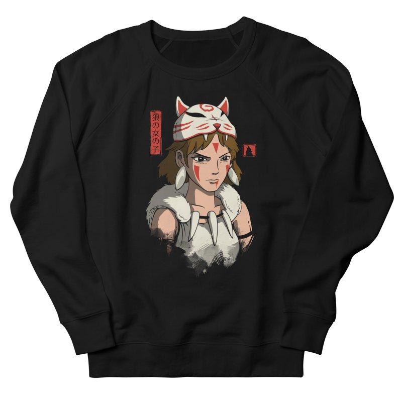 Wolf Girl Men's French Terry Sweatshirt by vincenttrinidad's Artist Shop