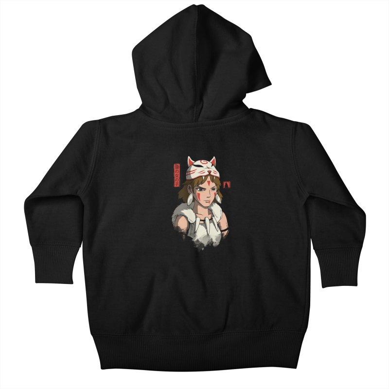 Wolf Girl Kids Baby Zip-Up Hoody by vincenttrinidad's Artist Shop