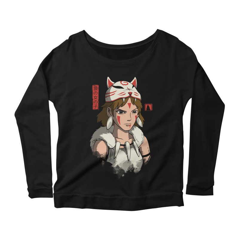 Wolf Girl Women's Scoop Neck Longsleeve T-Shirt by vincenttrinidad's Artist Shop