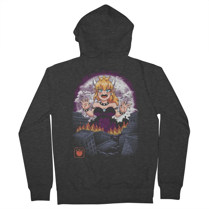 Princess Kaiju Women's French Terry Zip-Up Hoody by vincenttrinidad's Artist Shop