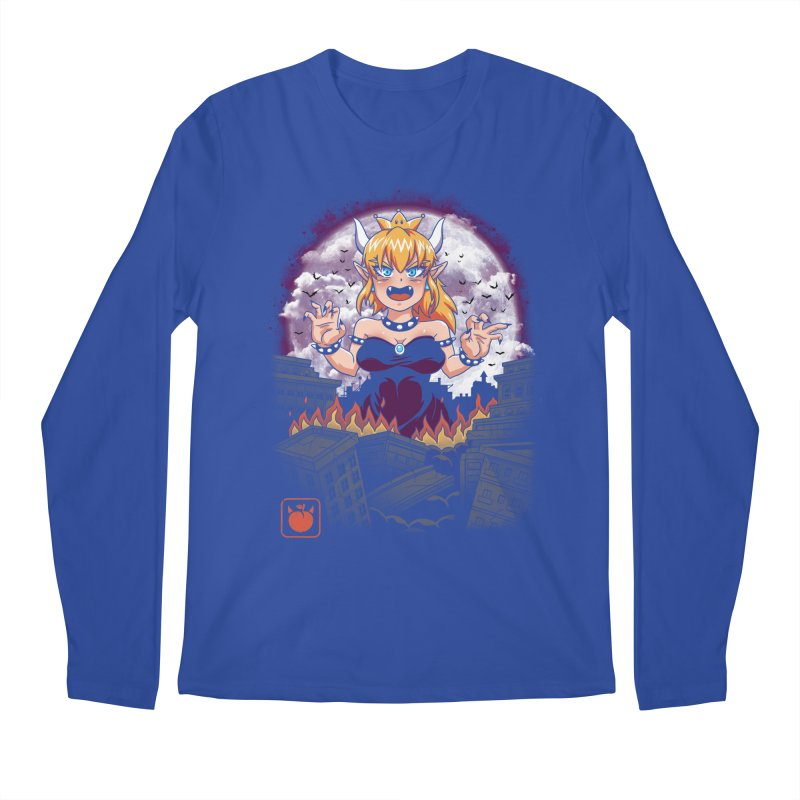 Princess Kaiju Men's Regular Longsleeve T-Shirt by vincenttrinidad's Artist Shop