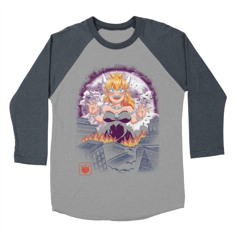 Princess Kaiju Men's Baseball Triblend Longsleeve T-Shirt by vincenttrinidad's Artist Shop
