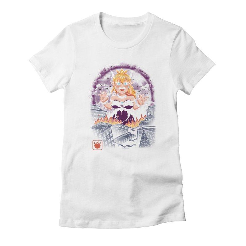 Princess Kaiju Women's Fitted T-Shirt by vincenttrinidad's Artist Shop