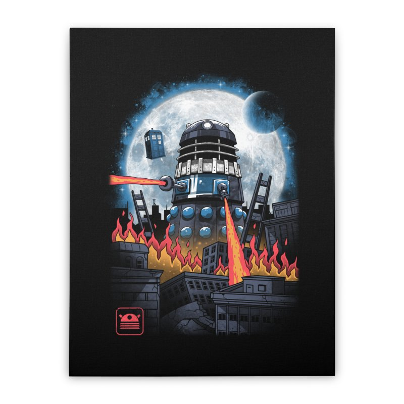 Dalek Kaiju Home Stretched Canvas by vincenttrinidad's Artist Shop