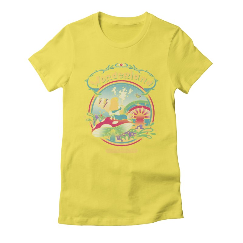 Day Dreamer Women's Fitted T-Shirt by vincenttrinidad's Artist Shop