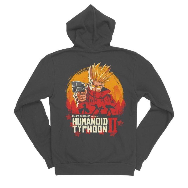 Red Humanoid Typhoon II Men's Sponge Fleece Zip-Up Hoody by vincenttrinidad's Artist Shop