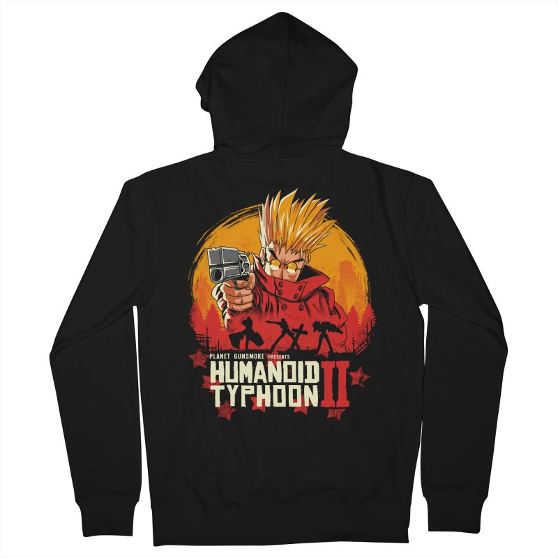 Red Humanoid Typhoon II Men's French Terry Zip-Up Hoody by vincenttrinidad's Artist Shop