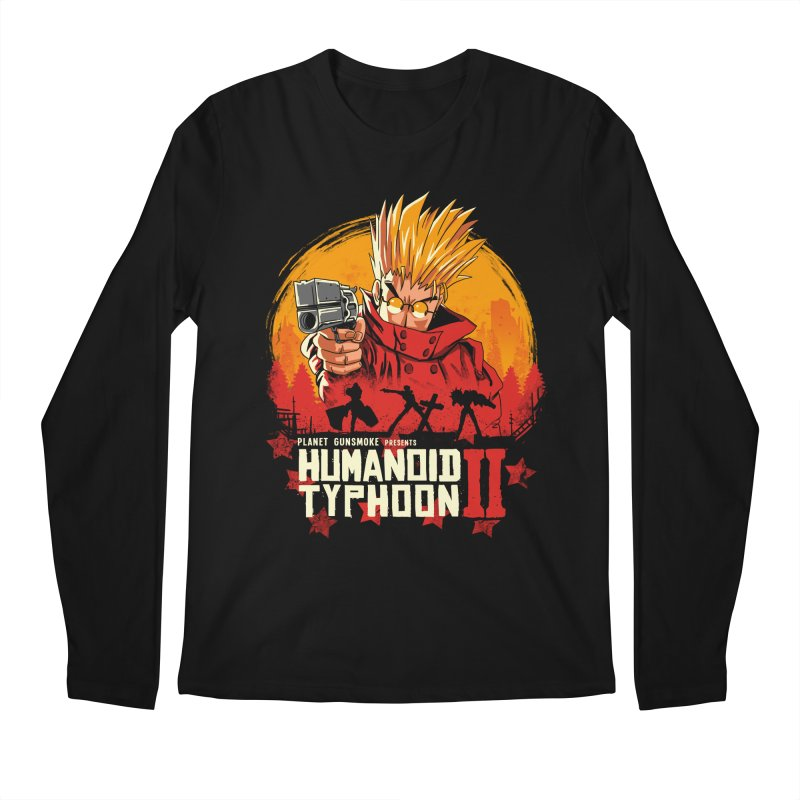 Red Humanoid Typhoon II Men's Regular Longsleeve T-Shirt by vincenttrinidad's Artist Shop