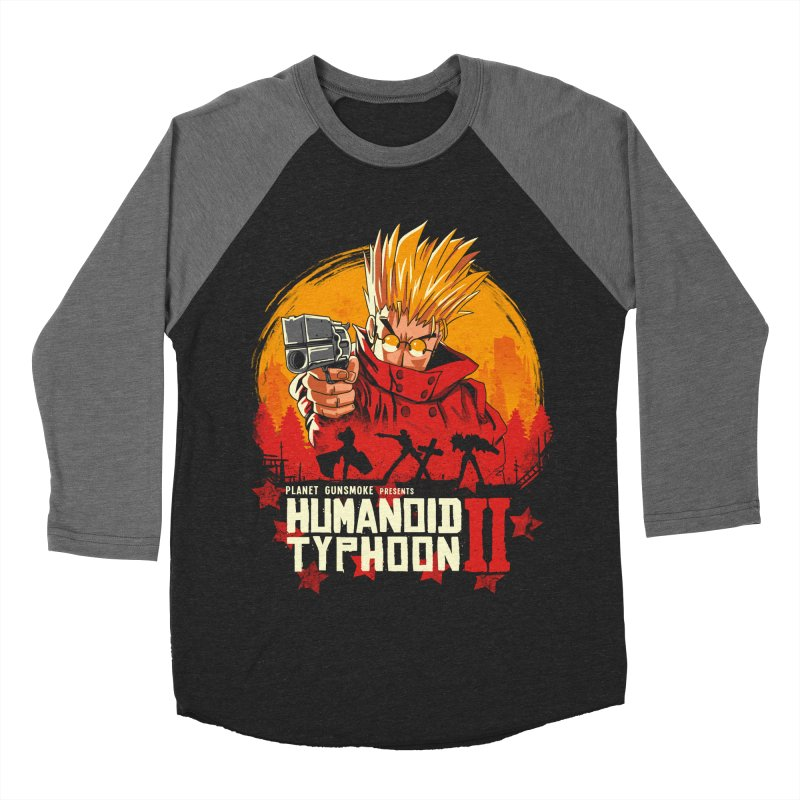 Red Humanoid Typhoon II Men's Baseball Triblend Longsleeve T-Shirt by vincenttrinidad's Artist Shop