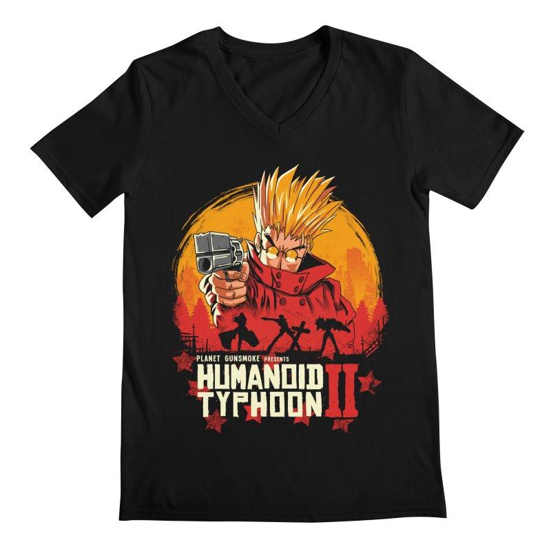 Red Humanoid Typhoon II Men's Regular V-Neck by vincenttrinidad's Artist Shop