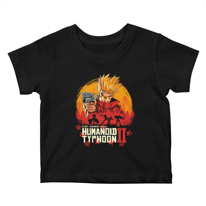 Red Humanoid Typhoon II Kids Baby T-Shirt by vincenttrinidad's Artist Shop
