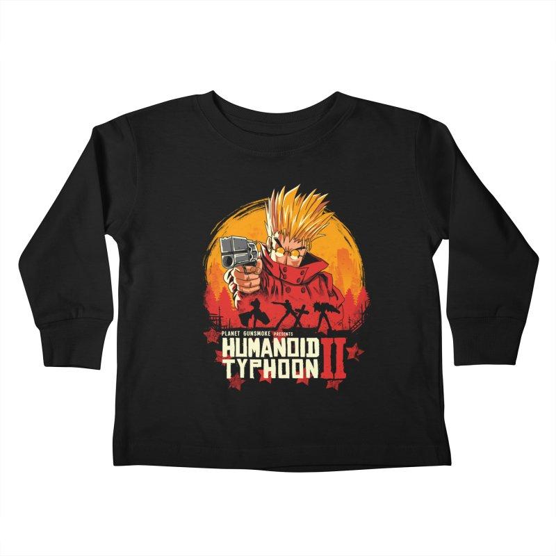 Red Humanoid Typhoon II Kids Toddler Longsleeve T-Shirt by vincenttrinidad's Artist Shop